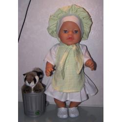 kokin set groen baby born 43cm