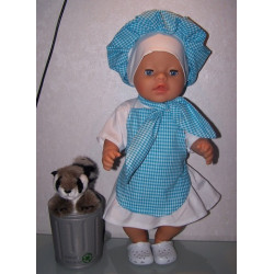 kokin set blauw baby born 43cm