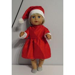 kerstvrouw jurk baby born 43cm