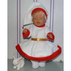 kerstvrouw jurk wit baby...