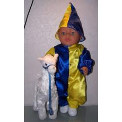 clownspak geel blauw baby...