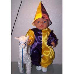 clownspak geel paars baby...