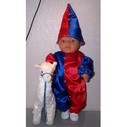 clownspak rood blauw baby...