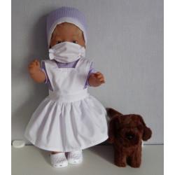 zuster setje lila baby born...