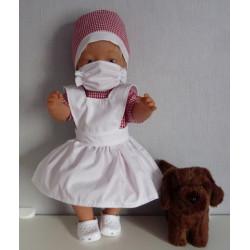 zuster setje rood baby born...
