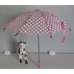 paraplu roze met polka dots