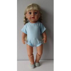 romper blauw baby born 43cm