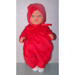slobpak rood baby born 43cm