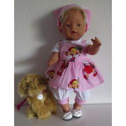 zomersetje roze baby born 43cm