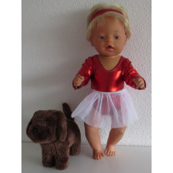 balletsetje rood baby born...