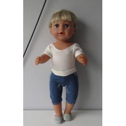 badpak blauw poppenmaat 43cm