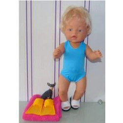 badpak blauw baby born 43cm
