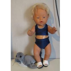 bikini donker blauw baby...