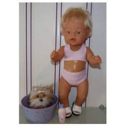 bikini licht roze baby born...