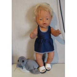 tankini donker blauw baby...