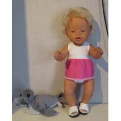 tankini wit met roze baby...