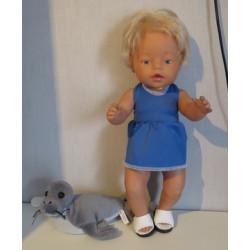 tankini blauw baby born 43cm
