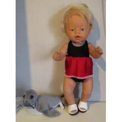 tankini zwart met rood baby...
