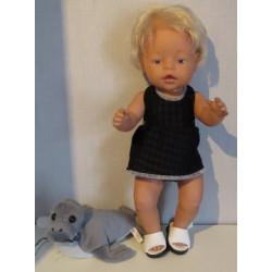tankini zwart geblokt baby...
