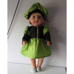 pietjurk groen baby born 43cm