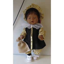 pietpak goud baby born 43cm