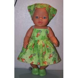 zonnejurk groen pebels baby...