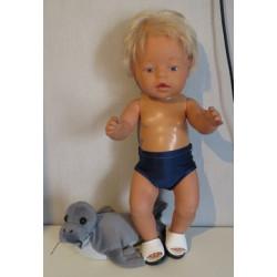 zwembroek blauw baby born 43cm