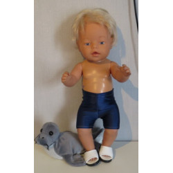 zwemboxer blauw  baby born...