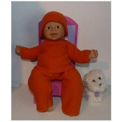 fleecepak oranje babypop...