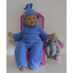 fleecepak blauw babypop...