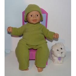fleecepak groen babypop...