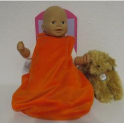 slaapzak oranje babypop...