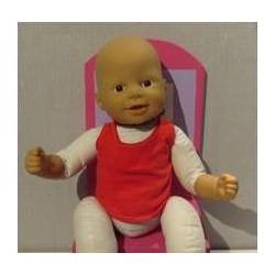 los hemd rood babypop 36/38cm