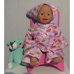 hippejurk roze babypop 36/38cm