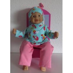 pyjama vogels babypop 36/38cm