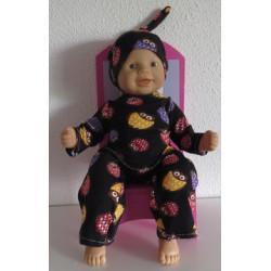 pyjama uilen babypop 36/38cm