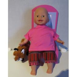 korte boek set roze babypop...