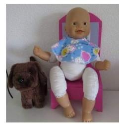 slab blauw schaap babypop...