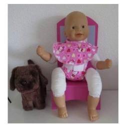 luier slab setje roze hello...