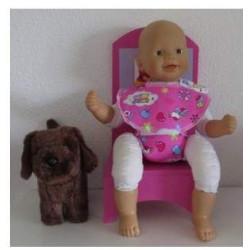 luier slab setje roze beren...