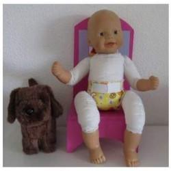 luier geel konijnen babypop...