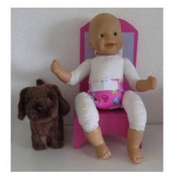luier roze beer babypop...