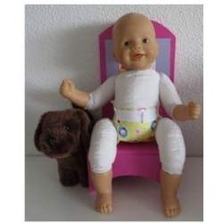 luier geel panda's babypop...