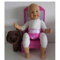 luier roze snoopy babypop...