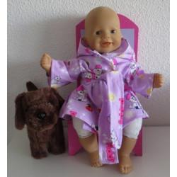 badjas lila hondjes babypop...