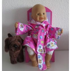 badjas roze beren babypop...