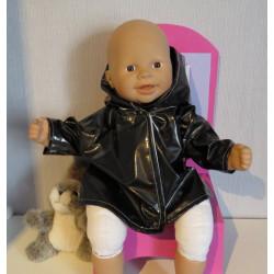 regenjas zwart babypop 36/38cm
