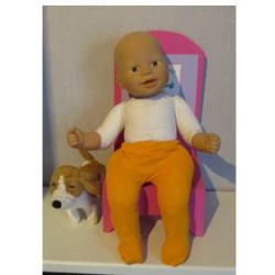 maillot oranje babypop 36/38cm