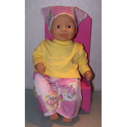 broek setje roze babypop...