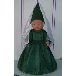feeenjurk groen baby born 43cm